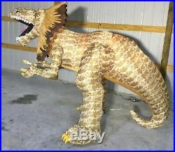 9ft Gemmy Airblown Inflatable Prototype Halloween Dilophosaurus Dinosaur #73808