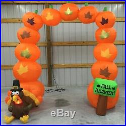 9ft Gemmy Airblown Inflatable Prototype Thanksgiving Turkey Harvest Arch #221209