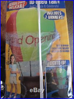 AirBlown Inflatable Colossal 10ft Hot Air Balloon with 7 Interchangable Banners