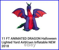 Air Blown Inflatable Animated Dragon For Halloween or Birthday celebration 11 ft