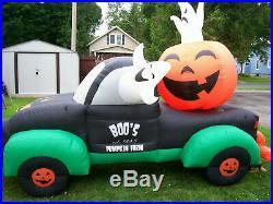 Air Howz 10' BOO's! Pumpkin Farm Truck Halloween Airblown Inflatable Yard Decor