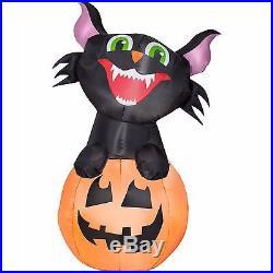 Airblown Inflatable Halloween Decoration Outdoor Gemmy Pumpkin Cat Yard Decor