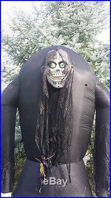 Airblown Inflatable Halloween Sound Eye Light Up 8' Ogre Zombie Skeleton Monster