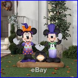 Airblown Inflatable Mickey Minnie Cauldron Scene Gemmy Disney Halloween Decor
