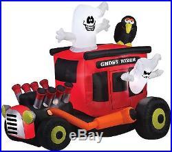 Animated Inflatable Halloween Airblown Ghost Rider Yard Decor Gemmy Hot Rod
