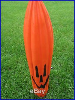 Blow Mold General Foam Halloween Stick Pumpkin Jack O Lantern Lighted YardDecor