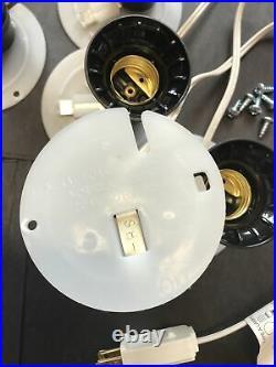 Blow Mold Light Cords White Plates full size Socket General Foam NEW LOT OF 6