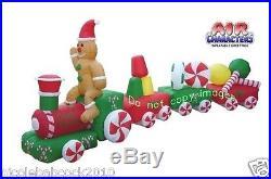 Christmas 14.5 Candy Santa Train Gingerbread Airblown Inflatable Yard Decor