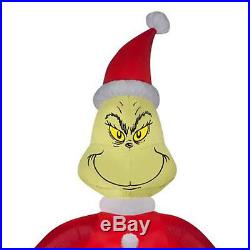 CHRISTMAS LIGHTED INFLATABLE GRINCH 8 Ft Max Dog Outdoor Xmas Holiday Decoration