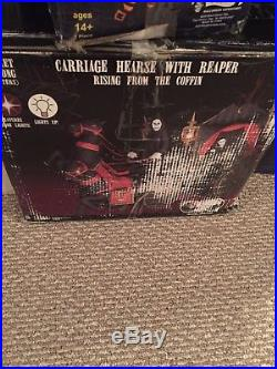Carraige Reaper Rising From The Coffin Gemmy Inflatable Rare! Hard To Find