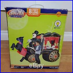 Carriage Hearse Reaper Coffin Gemmy Airblown 8 Halloween Inflatable Blowup