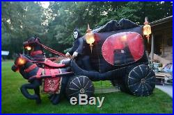 Carriage Hearse With Reaper Rising Coffin Gemmy Air-blown 12 Halloween Inflatable