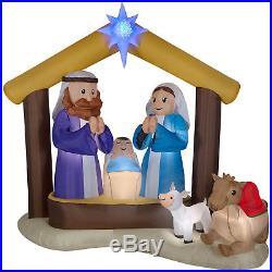 Christmas Nativity Scene Holy Family Inflatable Kaleidoscope Outdoor Yard Decor