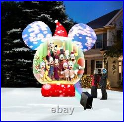 Christmas Video Projecting 8' Disney Musical Snow Globe Airblown Inflatable Yard