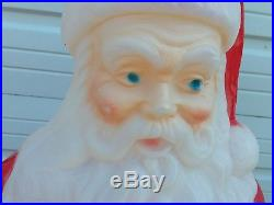 D Santa Claus Blow Mold Plastic Yard Lawn Christmas Decor outdoor Lighted 40