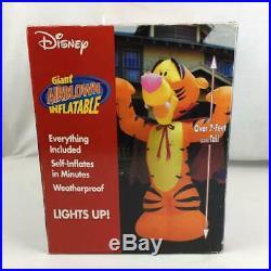Disney Gemmy Tigger Inflatable Halloween Vampire Airblown 7 FT 2003 New Sealed