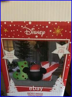 Disney Joy Mickey Mouse Christmas Airblown Inflatable Outdoor Decoration