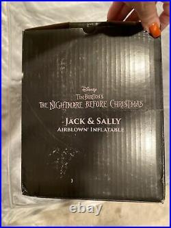 Disney Nightmare Before Christmas Airblown Inflatable Jack & Sally 7ft Halloween