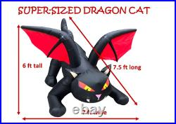Dragon Cat, Outdoor Halloween Decorations Inflatables Yard Blow Up Decor Lawn NEW