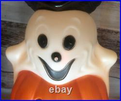 EMPIRE plastic blow mold HALLOWEEN TOTEM lighted WORKS cat pumpkin skull ghost