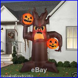 GEMMY HALLOWEEN 10.5' SCARY TREE With PUMPKINS AIRBLOWN INFLATABLE YARD DECOR