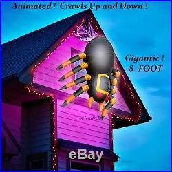GIGANTIC! 8 Ft. Crawling SPIDER CREATURE! Inflatable LED Animated Halloween Yard