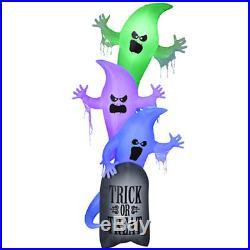 Gemmy 10' Foot Halloween 3 Stacked Ghosts Inflatable Indoor/Outdoor Decoration