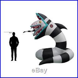 Gemmy 10' Halloween animated BEETLEJUICE SANDWORM Airblown Inflatable Sand Worm