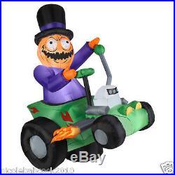 Gemmy 6' Pumpkin ANIMATED doom buggy Halloween Airblown Inflatable yard decor