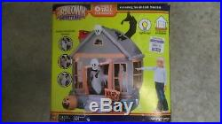 Gemmy 6' Rotating Haunted House Lighted Halloween inflatable airblown Blow-up