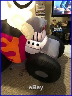 Gemmy 6ft Halloween Airblown Inflatable 3 Ghost Hotrod Race Car Rare Htf