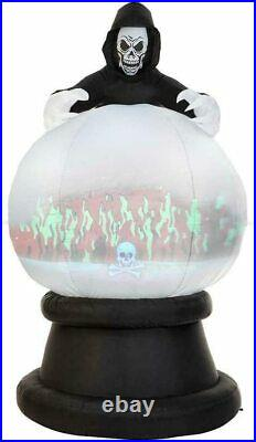 Gemmy 8.5 ft. Living Projection Reaper Globe Halloween Inflatable Airblown -NEW