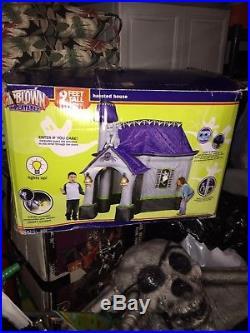 Gemmy 9' Halloween Airblown Inflatable Walk Thru Haunted House Outdoor Rare