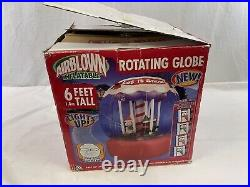 Gemmy Airblown 6 Ft Inflatable Light Up Rotating Globe Indoor/Outdoor