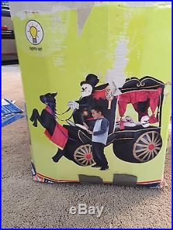Gemmy Airblown Halloween Inflatable Skeleton Carriage Rare
