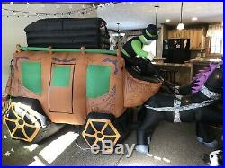 Gemmy Airblown Inflatable 13 Carriage Hearse Halloween Horse Dracula Coffin