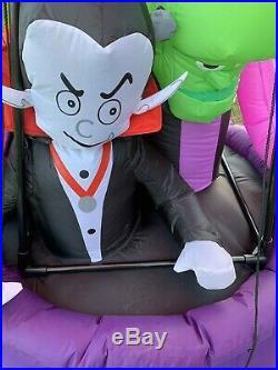 Gemmy Airblown Inflatable 15 Halloween Hot Air Balloon Pumpkin Classic Decor