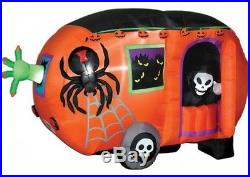 Gemmy Airblown Inflatable 5' x 8' Long Animated Halloween Camper
