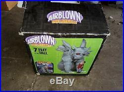 Gemmy Airblown Inflatable 7 Gargoyle Halloween Decoration