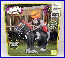 Gemmy Airblown Inflatable 8 ft. Halloween Headless Horseman Knight Horse