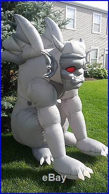 Gemmy Airblown Inflatable Halloween 7' Red Eye Gray Bat Gargoyle Vampire Monster
