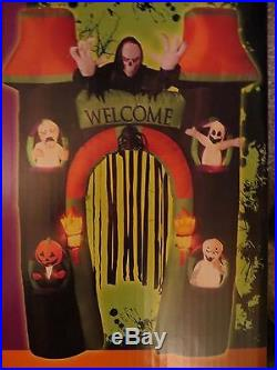 Gemmy Airblown Inflatable Lighted Halloween Archway 10 Ft. Halloween! NEW