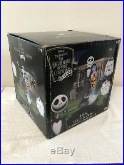 Gemmy Airblown Inflatable Nightmare Before Christmas Jack & Sally Halloween NEW