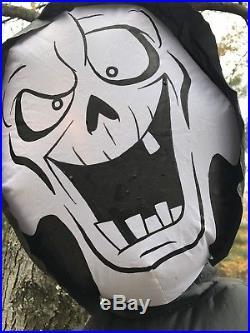 Gemmy Airblown Inflatable Prototype Halloween Reaper On Horse Horseman Animated
