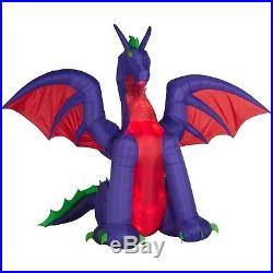 Gemmy Airblown inflatable halloween dragon animated. Wings move