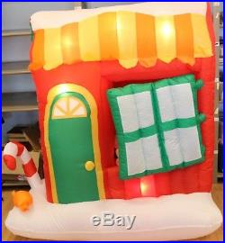 Gemmy Christmas Disney Airblown Inflatable Mickey Minnie Mouse in Candy Cottage