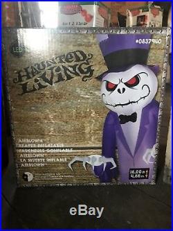 Gemmy Halloween 16' Grim Reaper Inflatable EUC