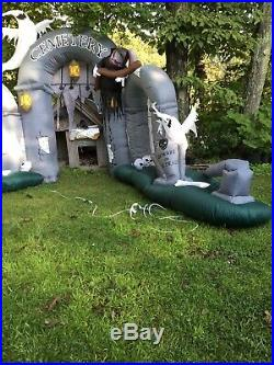 Gemmy Halloween Airblown Inflatable 10ft Cemetery Scene AS IS (READ DESCRIPTION)