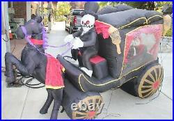 Gemmy Halloween Airblown Inflatable Hearse 8 Feet Long