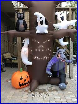 Gemmy Halloween Airblown Inflatable Light-show Tree Musical Blow Up Yard Decor